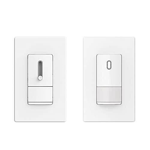 ELEGRP Occupancy Motion Sensor Light Switch & ELEGRP Slide Dimmer Switch for Dimmable LED