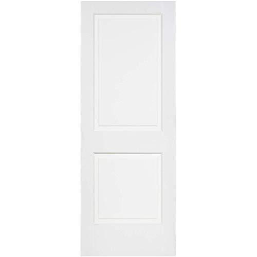 Kimberly Bay 2-Raised Panel White Solid Core Pine Interior Door Slab (80x24)