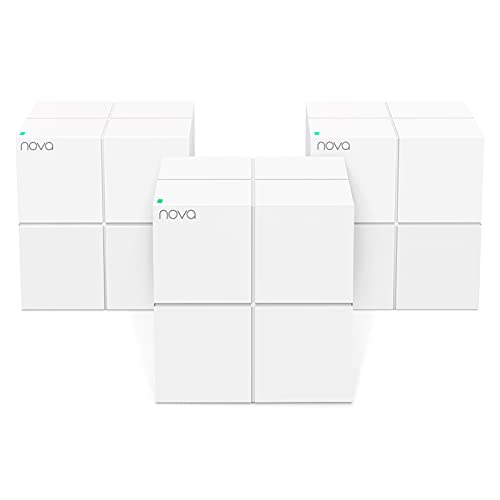 Tenda Nova Mesh WiFi System (MW6)-Up to 6000 sq.ft. Whole Home Coverage, WiFi Router and Extender Replacement, Gigabit Mesh Router for Wireless Internet, Works with Alexa, Parental Controls, 3-pack