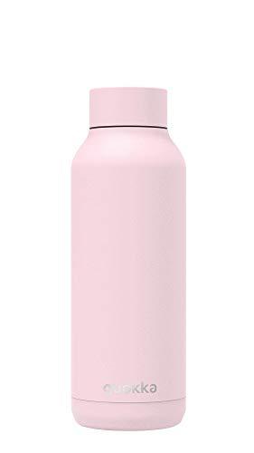 Quokka Solid - Quartz Pink Powder 510 ML | Botellas De Agua Acero Inoxidable Sin BPA |Botella Térmica De Doble Pared - Mantiene el frío y el Calor para Niños y Adultos