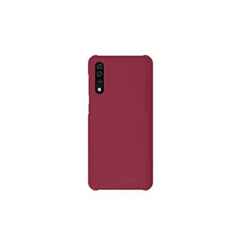 Samsung Galaxy A50 Rojo/Vino Funda Oficial Samsung Hard Black Carcasa para Galaxy A50 - Funda protectora delgada suave al tacto liso rojo/vino