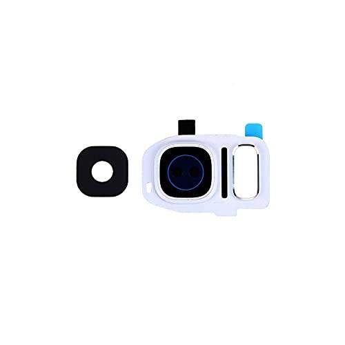 HOUSEPC Lente De Cristal De Cámara + Marco Blanco para Samsung Galaxy S7 Edge G935f