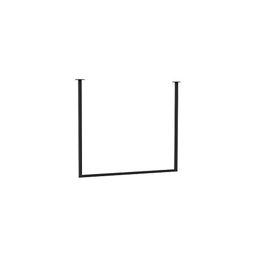 Perchero Feifei Burro Montado en la Pared Escudo Rack U Techo Percha de Hierro Forjado Ropa Soporte de exhibición - 3 Tamaños (Size : 90×100cm)