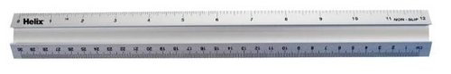 Helix Metal Safety Ruler, 12 inch