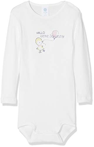 Sanetta Baby-Mädchen 1/1 w.Print Formender Body, Weiß (White 10), 74