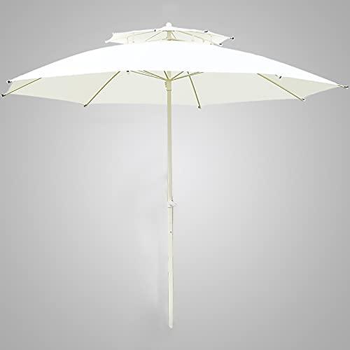 Sombrillas para Patio Sombrilla de patio Sombrilla de mesa de jardín al aire libre con Ventilación de viento, 9 pies Paraguas de mercado por Jardín/ Patio interior/ Piscina, 3 capas Costillas a prueba