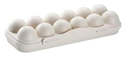 Caja de almacenamiento de huevo Frigorífico Huevo de huevo con tapa Huevos de almacenamiento apilables en gabinetes Almacenamiento de huevos de huevo de huevo ( Color : Kaki , Size : 30*15*6.5 cm )