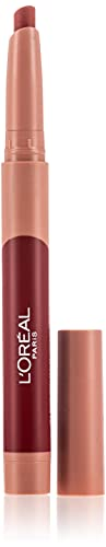 L'Oreal Paris Make-up Designer - Pintalabios Matte Crayón 112 Spice Of Life permanente, rojo vino - 22 ml