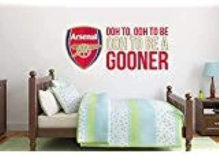 Official Arsenal Football Club - Crest & Gooners Song - Gunners Wall Sticker Set Vinyl Decal Vinyl Poster Print Mural (60cm Width x 30cm Height)