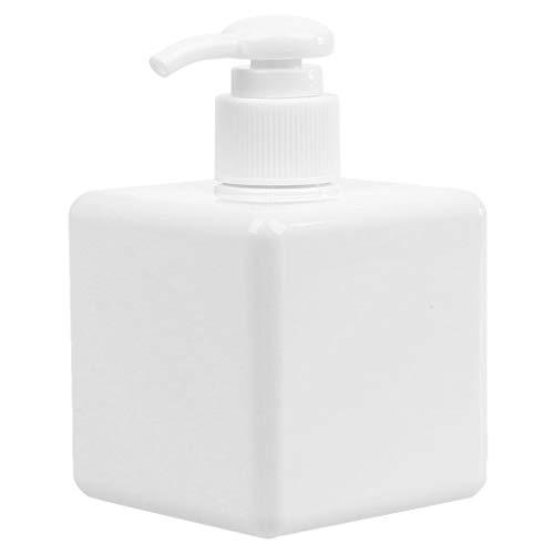 JunYe navulbare fles voor op reis van kunststof fles met shampoo de grote pomp, wit - 650 ml
