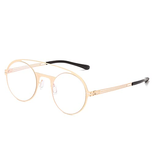 YTYASO Gafas de Sol Redondas de Metal Hombres Mujeres Moda Gafas de Sol Coloridas Protección UV400