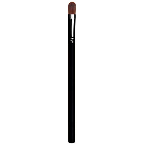 Concealer Makeup Brush Under Eye - Small Flat Tapered Synthetic Bristle for Precision Color Corrector, Full or Spot Coverage, Concealing Eyes and Brow with Cream, Liquid, Mineral Powder, Cruelty Free