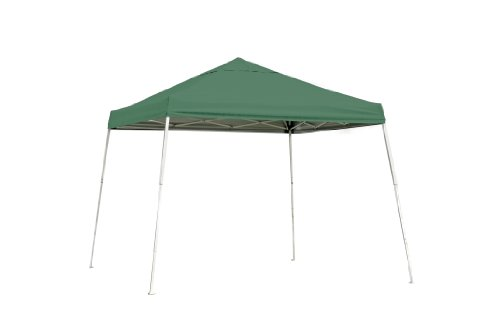ShelterLogic Slant Leg Pop-Up Canopy with Carry Bag, Green, 8 x 8 ft.