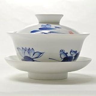 中国茶器・青花磁器 蓋碗(金魚)100ml