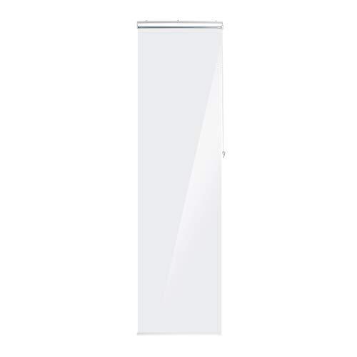 Relaxdays Estor de Ducha Enrollable 60 x 240 cm, para Ducha y bañera, Impermeable, con protección contra Salpicaduras, Transparente
