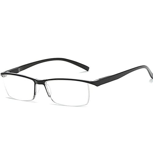 NONGLAN Gafas De Lectura Anti-BLU-Ray, Lector De Medio Marco, Lentes De Bloqueo De Luz Azul para Hombres Y Mujeres, Adecuados para Leer Y Ver Televisión(Size:2.5X)