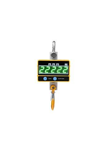 Crtkoiwa OCS-SE Báscula de grúa Digital súper Transparente Báscula de grúa Digital portátil 1000 kg/2000lb Báscula Colgante Industrial de Servicio Pesado Recargable con Control Remote