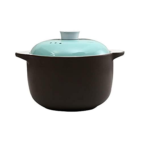 JiangKui Sopa Multiusos Saludable Plato de Cocción de Pasta Sartén Antiadherente Redonda Cazuela de Cerámica Azul Resistente Al Calor Cocotte Esponja de Envío Gratis