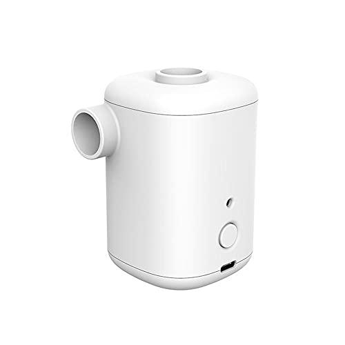 Homeluck Mini bomba de aire eléctrica al aire libre USB bomba inflable anillo de natación barco desinflador portátil para camping colchón blanco