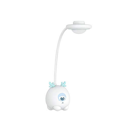 monstruo de dibujos animados, luz de escritorio regulable para oficina de trabajo con puerto de carga USB, portátil y compacto, sensible al tacto, lámpara de mesa para cuidar los ojos