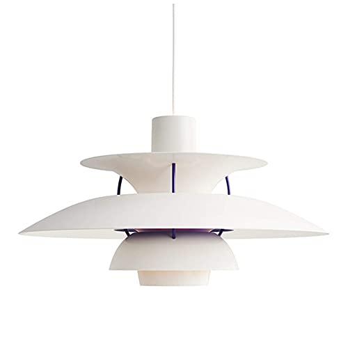 LLLKKK Lámpara colgante creativa, moderna E27 de aluminio, estilo sencillo, luces colgantes para salón, comedor, cocina, dormitorio, 30 cm