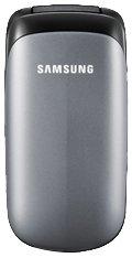 Samsung E1150 Argent Klapphandy (3,6 cm (1,4 Zoll) Display) Titanium silber