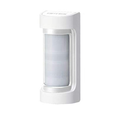 OPTEX VXS-RAM(W) Doppelter PIR-Detektor für den Außenbereich, geringe Absorption, 12 m 90 °, mit Abdeckung, Körper und Deckel weiß