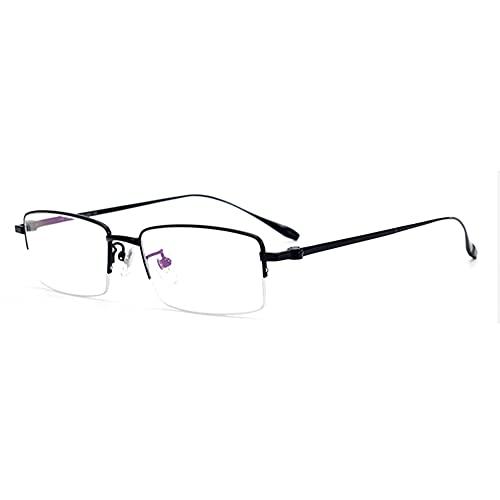 EYEphd Gafas de Lectura de Titanio Anti-Azul de HD Anti-Azul para Hombres, Lente de Resina asférica, Gafas de Damas/antifatiga Aumento +1.0 a +3.0,Negro,+2.75