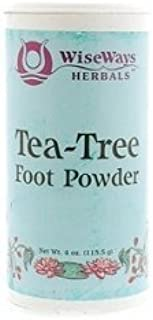 WiseWays Herbals Tea Tree Foot Powder 3 oz