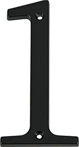 Distinctions 843141 Black Flush-Mount 4-Inch House Number 1