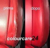 Kit de retouche pour siège auto en cuir, pour Fiat Frau Abarth, 35 ml, Rouge