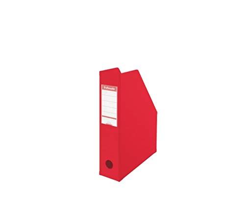 Esselte, porte-revues PVC, Dos de 7 cm, A4, Rouge, 56003