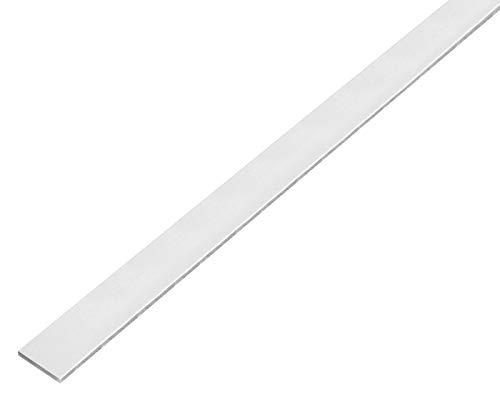 GAH-ALBERTS–Barra plana (autoadhesivo, aluminio, 1000x 25x 2mm, 1pieza, kugelgestrahlt Plata, 489182.0