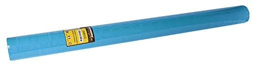 Pro Mantel – Ref R485039I – Mantel desechable de Papel de Damasco, en Rollo de 50 m de Largo x 1,20 m de Ancho, Color Azul Turquesa – Papel de Damasco con diseño Universal Chic y clásico