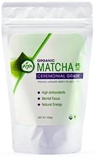 Aiya Certified USDA Japanese Organic Ceremonial Grade Matcha Green Tea Powder, 100g Bag (3.53 oz.)