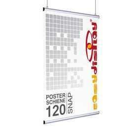 Poster Snap, Klemmleisten 120cm, DIN A0 quer, Posterleisten, Posterschiene, Plakatleisten