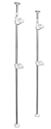 平安伸銅工業 突っ張りベランダ物干し竿受け ステンレス 2段 耐荷重22kg 取付高さ210~280cm MC-80