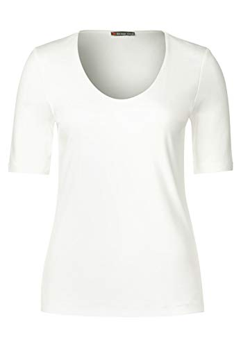 Street One Damen T-Shirt 313104 Palmira, Elfenbein (Off White 10108), 42