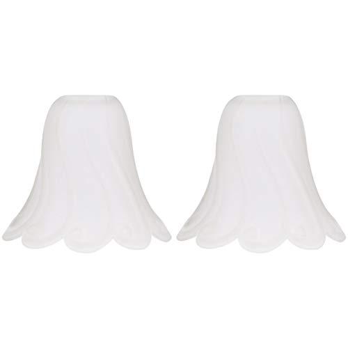 OSALADI 1 Pcs Pantalla de Cristal Sombra de Campana Lámpara de Araña Sombra Ventilador de Techo Cubiertas de Luz Lámpara de Pared Droplight Lámpara de Vela Cubierta de Sombra Reemplazo para