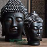 Estatuas de cabeza de buda de resina de estilo sudeste de Tailandia para decorar el hogar, manualidades de resina, Small