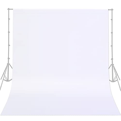 10FTX10FT White Backdrop Background for Photography Non-Woven Fabric Photo Booth Backdrop for Photoshoot Video Recording Parties Curtain