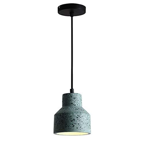 Lámpara Colgante Moderna De Cemento, Lámpara De Techo Colgante De Color Concreto Vintage Industrial Tipo Loft, Iluminación Colgante De Candelabro para Island Bar, Cafetería, Dormitorio, Hogar Verde
