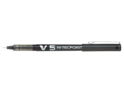 3 bolígrafos Pilot V5 Hi-Techpoint de 0,5 mm, color negro.