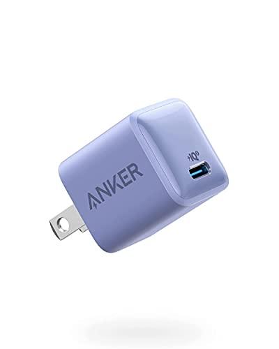 Anker PowerPort III Nano 20W (PD 充電器 20W USB-C 超小型急速充電器)【PSE技術基準適合/PowerIQ 3.0 (Gen2)搭載】 iPhone 12 / 12 Pro iPad Air(第4世代) Android その他 各種機器対応 (ラベンダーグレイ)