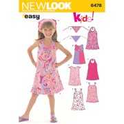 New Look Sewing Pattern 6478 Child Dresses, Size A (3-4-5-6-7-8)