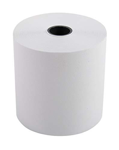 Exacompta 40651E Packung (mit 10 Kassenrollen, 1-lagig Offset standard, ideal für Kassen und Tischrechner, Breite: 57mm, Durchmesser Kern 12mm, Länge 33m, 60g/mq) 1er Pack (1 x 10 Stück) extra-weiß