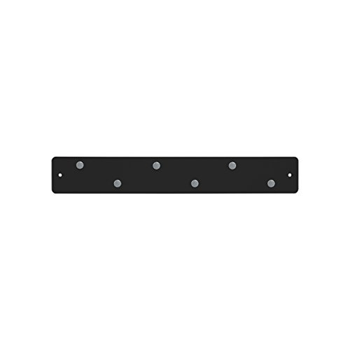 Three By Three Seattle Mini Magnetic Strip Bulletin Board, Black (31215)