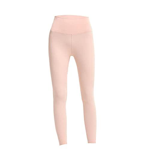 MQQM Push up Yoga Leggings de Cintura,Pantalones de Yoga de Cintura Alta de la Cadera, Medias de Aptitud Deportivas-Rosa_L,Opacas Cintura Alta Yoga Medias