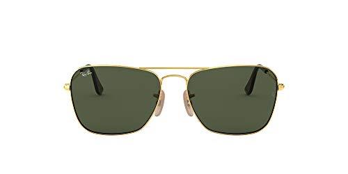 Ray-Ban Herren Caravan Sonnenbrille, Gold (Gold/Darkgreen), One size (58)