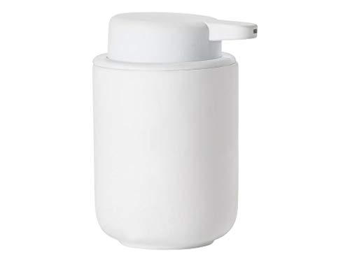 Zone Denmark Ume Seifenspender für Flüssigseife, Steingut mit Soft Touch-Beschichtung, weiß